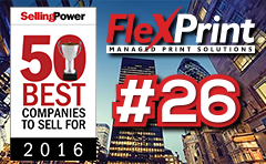 FlexPrint----2016-Selling-Power-50-Best-Companies-To-Sell-For